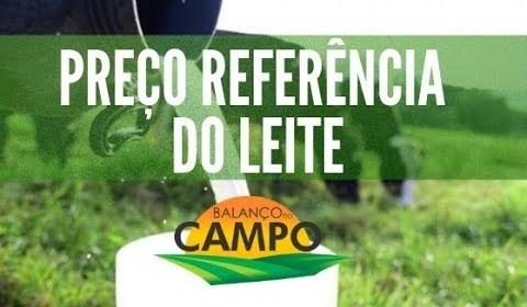 Preço de referência do leite para Minas Gerais